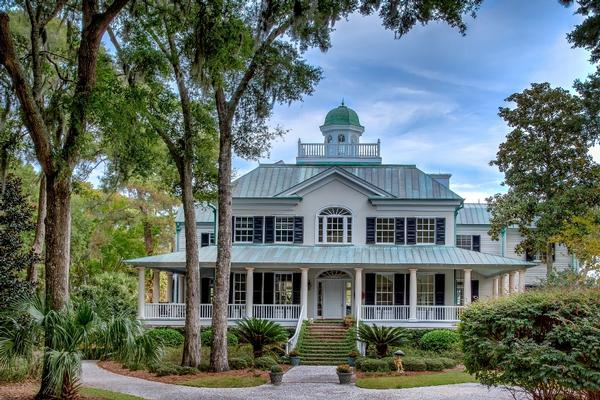 antebellum style waterfront home south carolina luxury homes