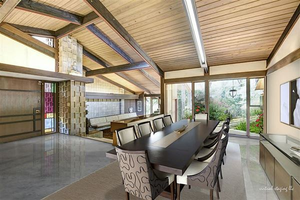 Fabulous mid century modern in river oaks texas luxury Mid century modern homes for sale houston