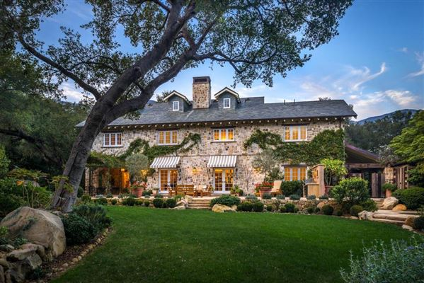 French Inspired Stone Farmhouse In Montecito California Luxury Homes Mansions For Sale