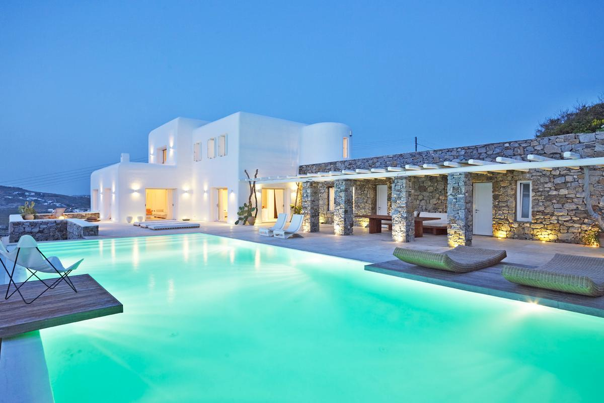 Rental Villa With Amazing Sea And Sunset View Greece Luxury