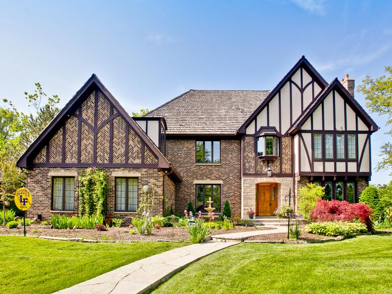 Impressive brick tudor style home illinois luxury homes for Tudor style homes for sale