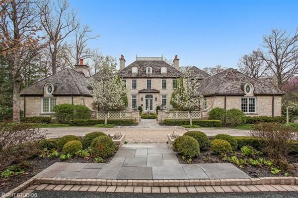 Elegant French Normandy Home US 3750000 In Highland Park IL