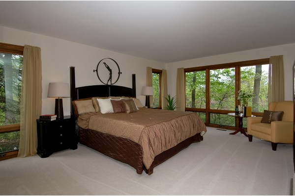 Master Bedroom with View of Lake