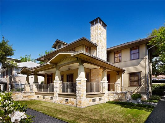Gorgeous property in historic district texas luxury for Craftsman style homes for sale dallas tx