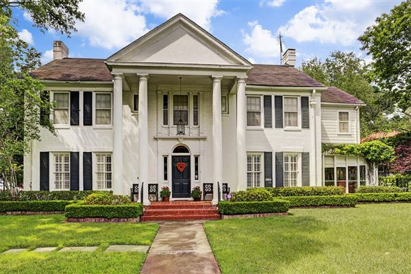 Southern colonial house in prime river oaks texas luxury for Custom colonial homes