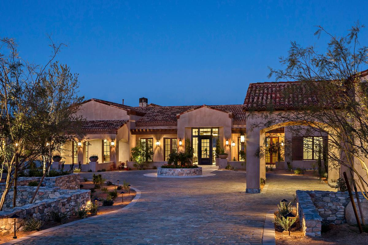 Newly built estate in troon area of scottsdale arizona for Arizona luxury homes