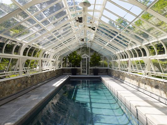 Built in 1934 for a woolworth heir new york luxury homes for Pool inside greenhouse