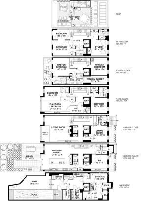 new york townhouse floor plans. Luxury real estate GREEK REVIVAL TOWNHOUSE IN PRIME GREENWICH VILLAGE  New York