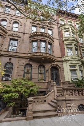 Trophy Brownstone Off Central Park West New York Luxury