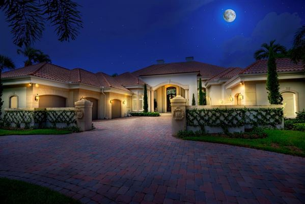 Totally remodeled one story custom estate florida luxury for Luxury one story homes