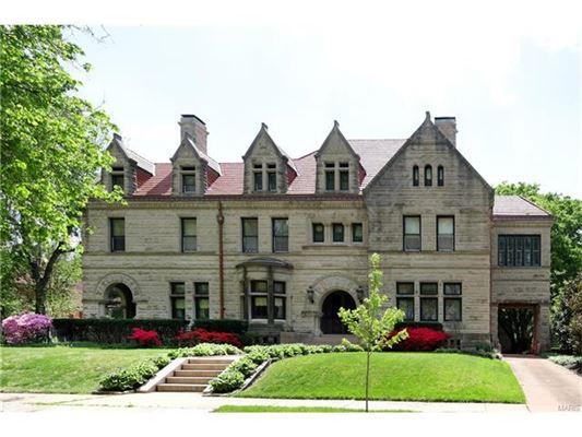 Richardsonian Romanesque Style Residence Missouri Luxury