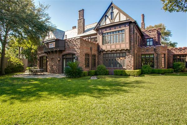 Impeccably Renovated English Tudor Estate Texas Luxury