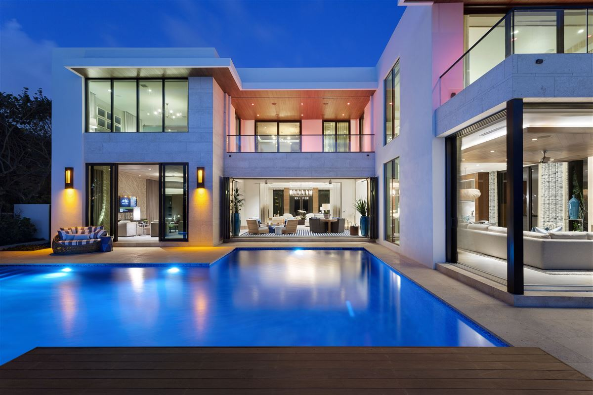 Ultra Modern Luxury Homes ultra modern ocean to intracoastal estate | florida luxury homes