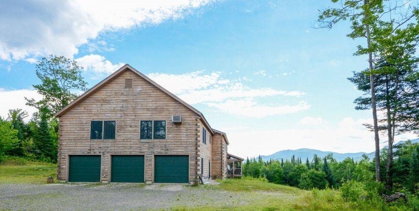 Custom Built Adirondack Log Home New Hampshire Luxury