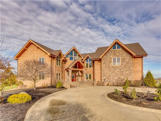 CUSTOM BUILT CEDAR HOME ON SIX PLUS ACRES | Ohio Luxury Homes | Mansions  For Sale | Luxury Portfolio