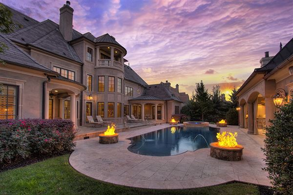 Stunning french chateau in longview country club north - 5 bedroom houses for sale in charlotte nc ...