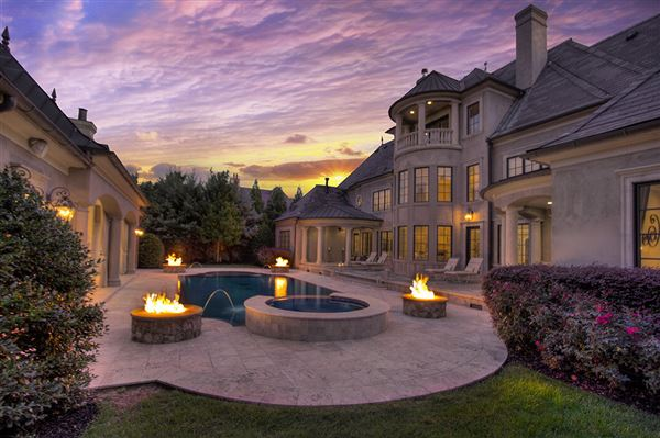 Stunning french chateau in longview country club north for French chateau style homes for sale