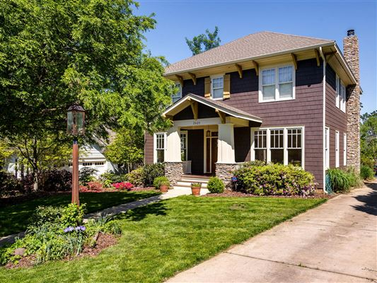 Lovely craftsman home luxury portfolio for Craftsman homes in charlotte nc