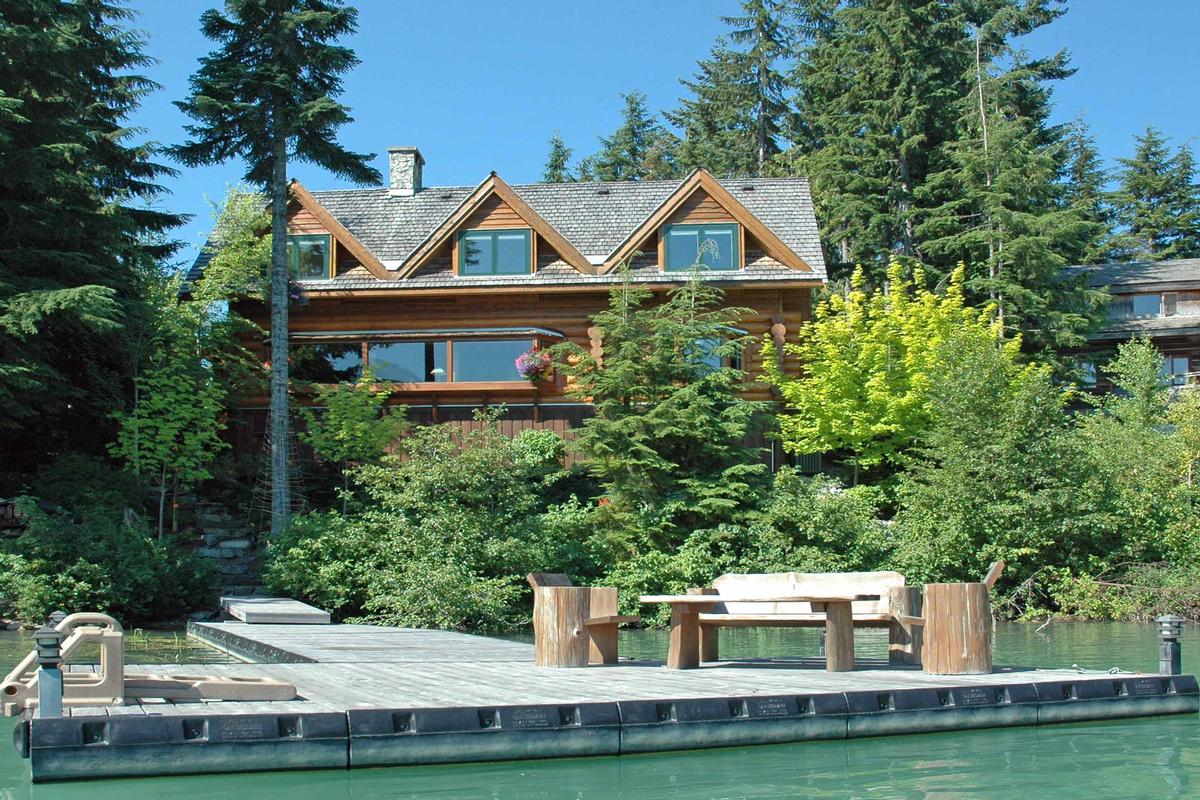Home In The Mountains lakefront log home in the mountains | british columbia luxury
