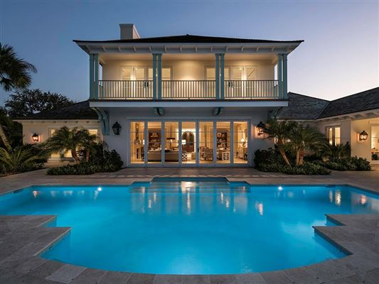 Custom built florida riverfront home florida luxury for Riverfront home designs