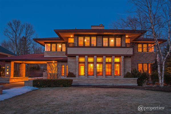 Award Winning Glencoe Prairie Style Home Illinois Luxury