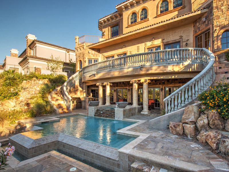 Tuscan Style Home lovely tuscan style home in south shore | nevada luxury homes