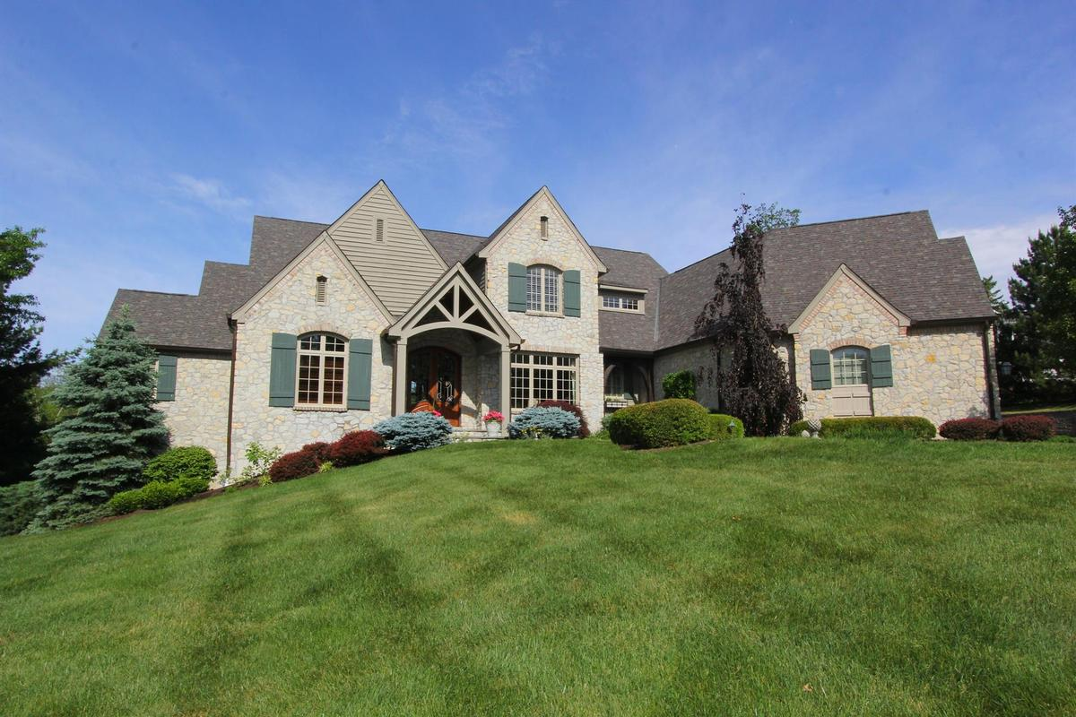 Custom french country inspired house ohio luxury homes for French country houses for sale