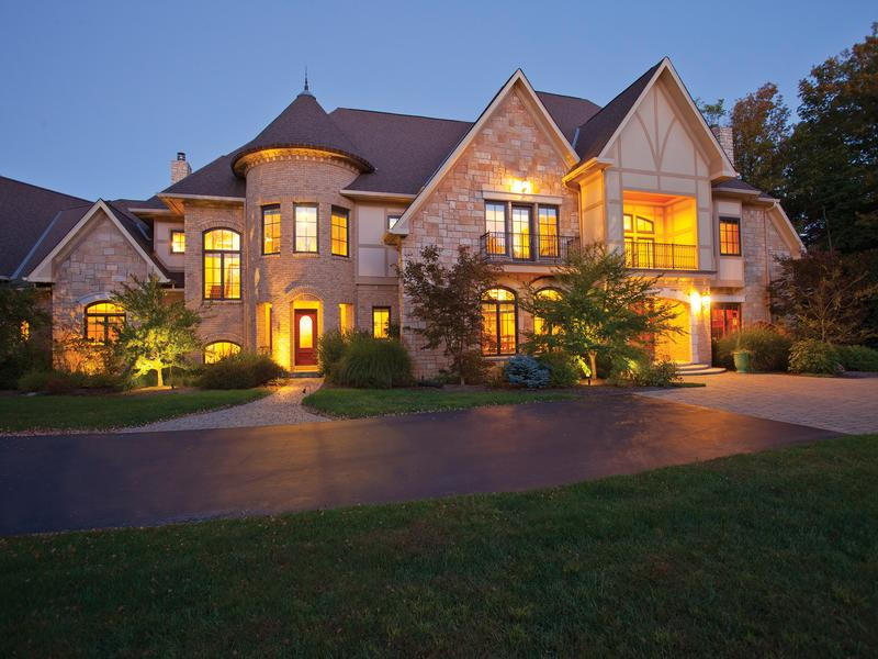 Custom Built French Normandy Ohio Luxury Homes