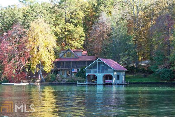 The Laughing Place On Lake Burton Georgia Luxury Homes
