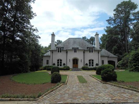 Custom home with a nod to the french countryside georgia for South georgia custom homes
