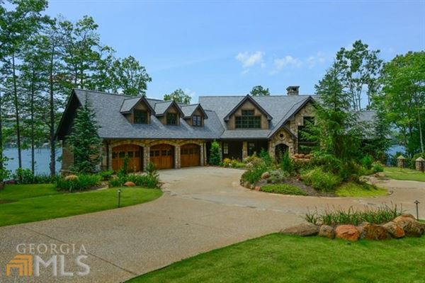 Magnificent Estate Home On Lake Burton Georgia Luxury