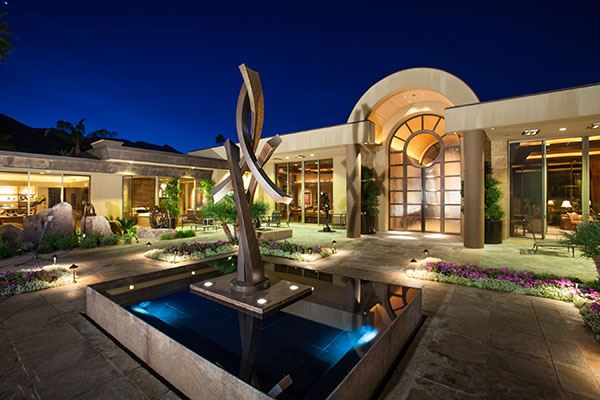 Extraordinary mansion in old las palmas california for Luxury houses in california