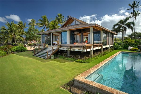 MODERN ASIAN INSPIRED OCEANFRONT LUXURY HOME IN POIPU | Hawaii Luxury Homes  | Mansions For Sale | Luxury Portfolio