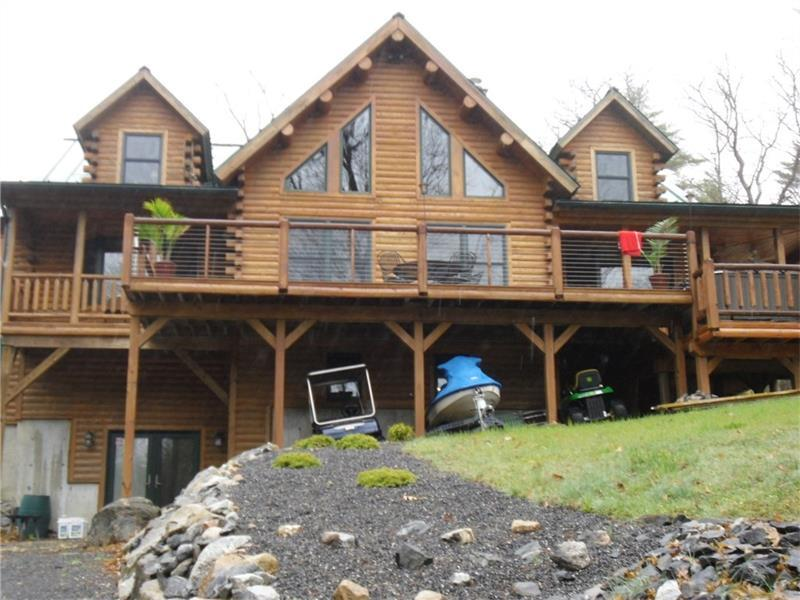 Katahdin Cedar Log Lakefront Home Maine Luxury Homes