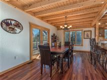 Mansions in Beautiful white cedar log home in union mills
