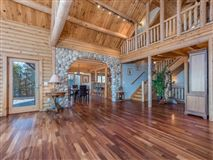 Beautiful white cedar log home in union mills mansions