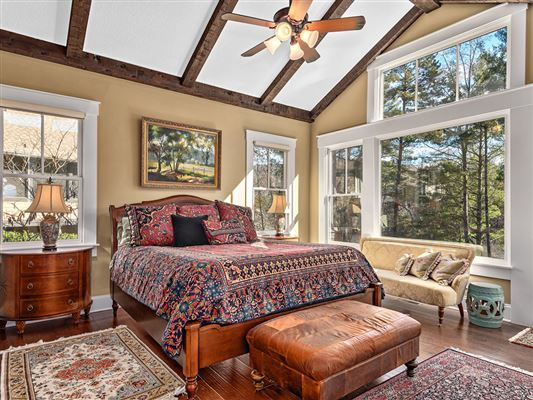 stylish lakefront living in Biltmore Lake mansions