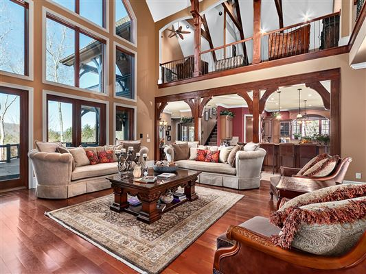Luxury homes magnificent 30 acre mountain estate