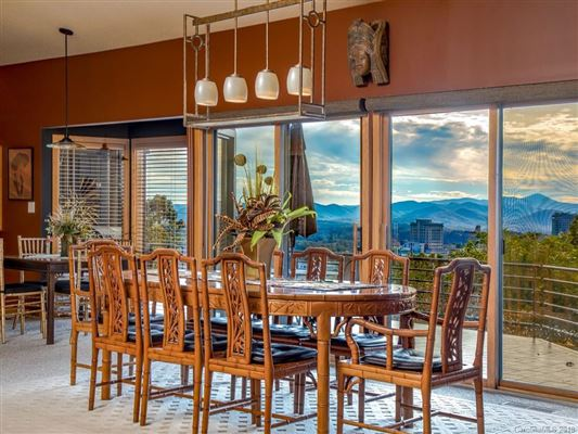 beautiful and expansive views in asheville luxury homes