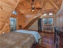 Beautiful white cedar log home in union mills luxury homes