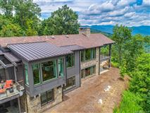 Mansions in long range views of mt mitchell