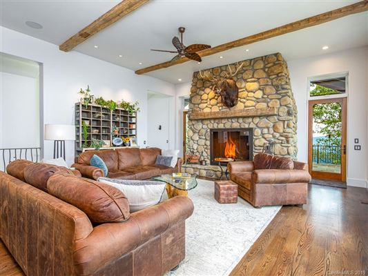Luxury real estate long range views of mt mitchell