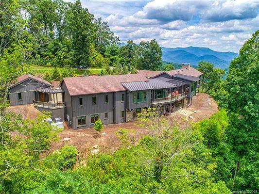 long range views of mt mitchell luxury homes