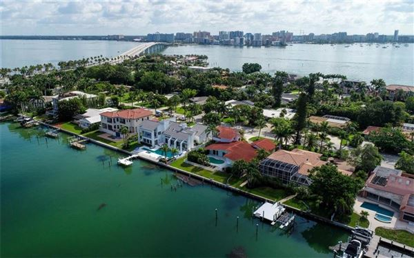 Perfectly poised on desirable Bird Key luxury properties