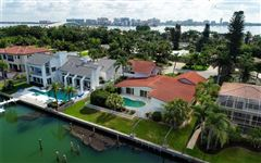 Perfectly poised on desirable Bird Key luxury real estate
