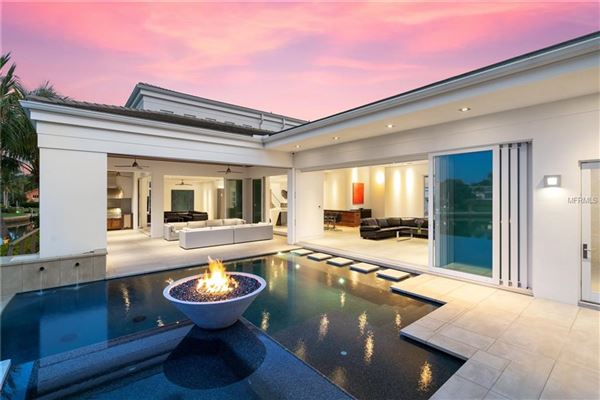 Luxury real estate extraordinary custom home in Bay Isles on Longboat Key