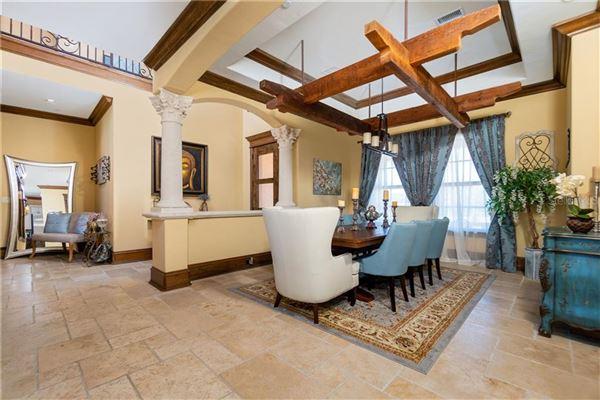 Luxury real estate custom Mediterranean-style waterfront residence