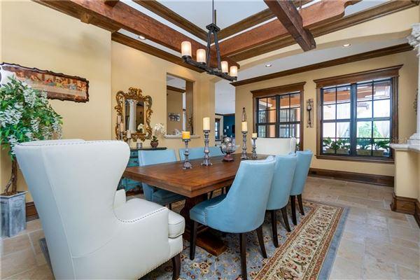 custom Mediterranean-style waterfront residence luxury real estate