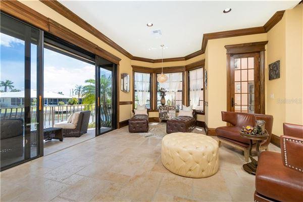 custom Mediterranean-style waterfront residence mansions