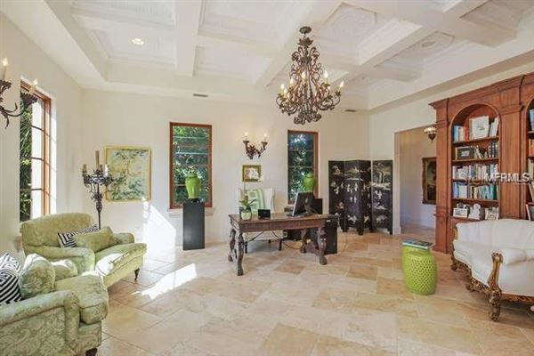 Mansions in sun-soaked palm beach estate